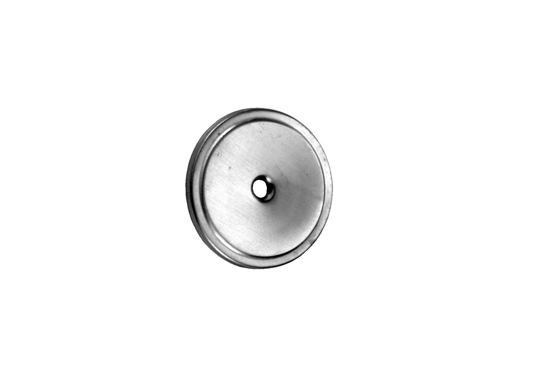Don-Jo 57 Aluminum Cabinet Knob, Clear Coated Satin Nickel Plated, 1/8'' Projection, 1-1/2'' Knob Size (Pack of 10)