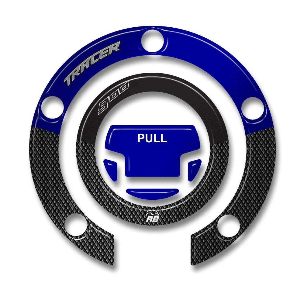 Adesivo Resinato Protezione Tappo Serbatoio Per Moto Yamaha Tracer 900 2018-19 - Metal Blue ResinBike 87870053