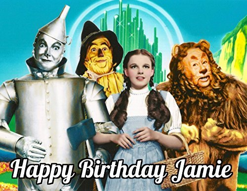 Wizard of Oz Dorothy Edible Image Photo Cake Topper Sheet Personalized Custom Customized Birthday Party - 1/4 Sheet - 77953