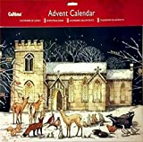 Extra Large Advent Calendar for Christmas.Vintage Church with Animals in Snow Perfect Holiday Gift {jg} For mom, dad, sister, brother, friend, gay,