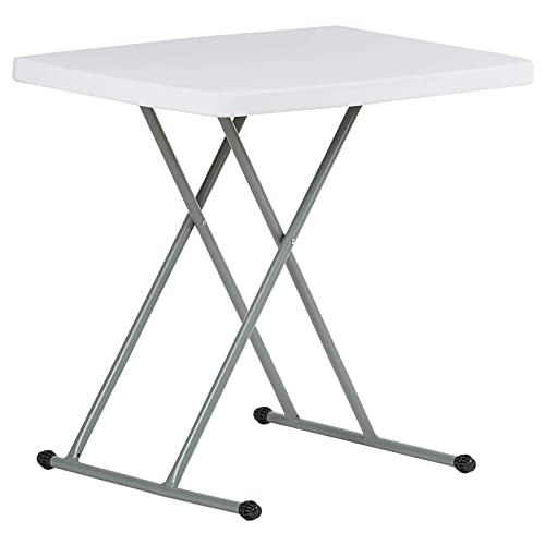 Hartleys 2.5ft Adjustable Height Folding Table   Portable U0026 Wipe Clean