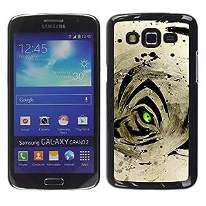 "For Samsung Galaxy Grand 2 II , S-type Resumen Ojo de Tigre"" - Arte & diseño plástico duro Fundas Cover Cubre Hard Case Cover"