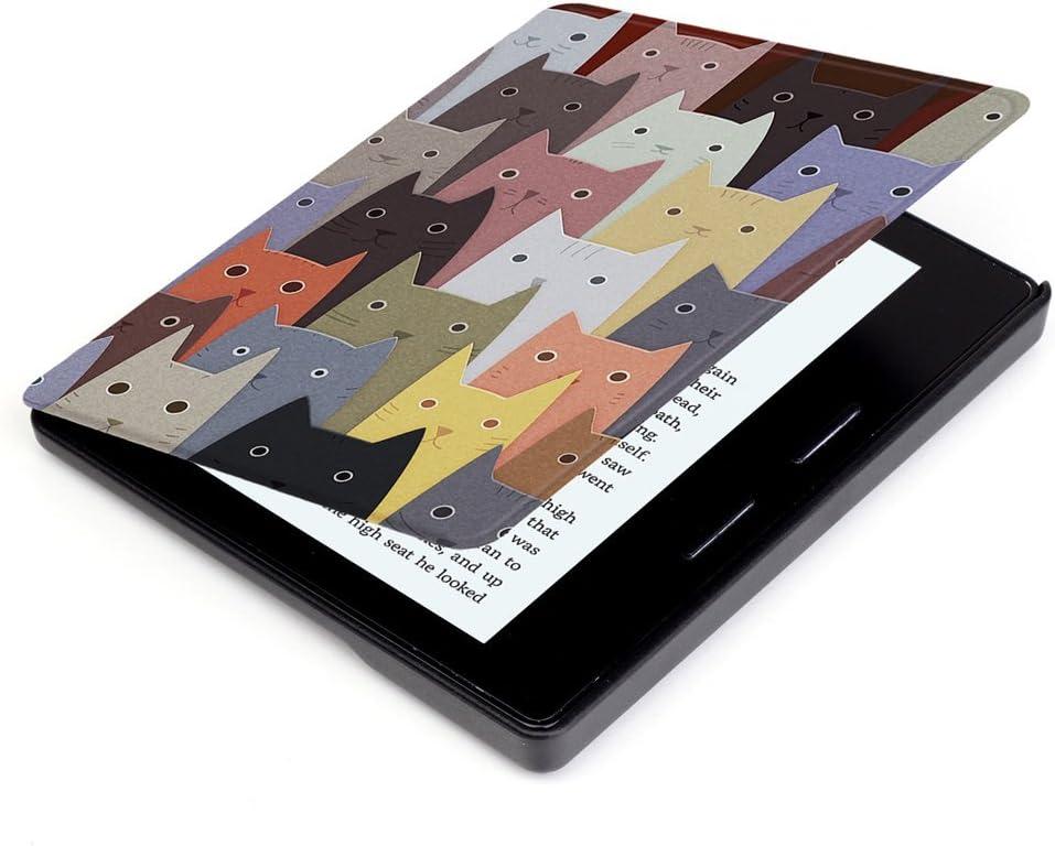 Huasiru Pintura Caso Funda para  Kindle Oasis 2017 Cover con Auto Despertar//Dormir Flor de Almendro 7 Pulgadas