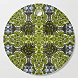 Society6 Wooden Cutting Board, Round, Looking into a kaleidoscope of nature's windows by hereswendy