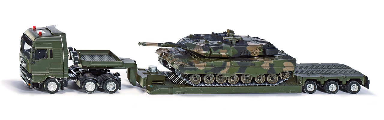 SIKU 8612 – Transporter Militar con Tanque, Vehículo
