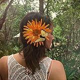 Daisy Butterfly Music Festival Hair Clip, Summer Hair Clip, Floral Hair Clip, festival hair decoration, Floral Barrette, Flower Barrette
