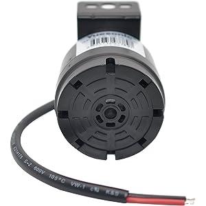 Yuesonic Universal 10-24V 100dB Waterproof Back-Up Alarm with Black Plastic Spray Bracket