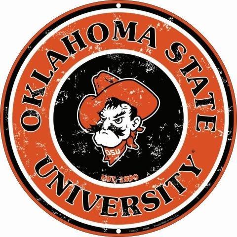 University of Oklahoma State Collegiate Embossed Metal Circular Sign CS60103