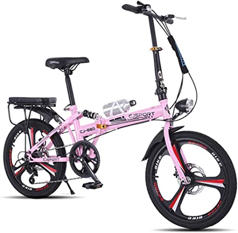 MUYU Bicicleta Plegable De Ruedas De 20 Pulgadas Ideal para La ...