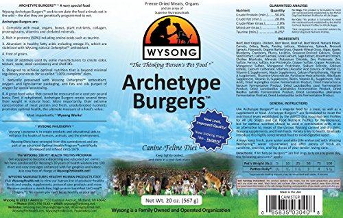 Wysong Pet Nutritional Products Wysong Archetype Burgers Canine