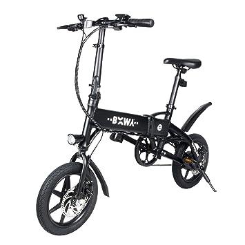 "M MEGAWHEELS Bicicleta Eléctrica - 14"" Ultra Ligero Plegable Ebike, 3 Modos, 15"