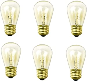 YiLighting Outdoor String Lights Replacement Bulbs S14 11W Dimmable Incandescent Edison Light Bulb (6)