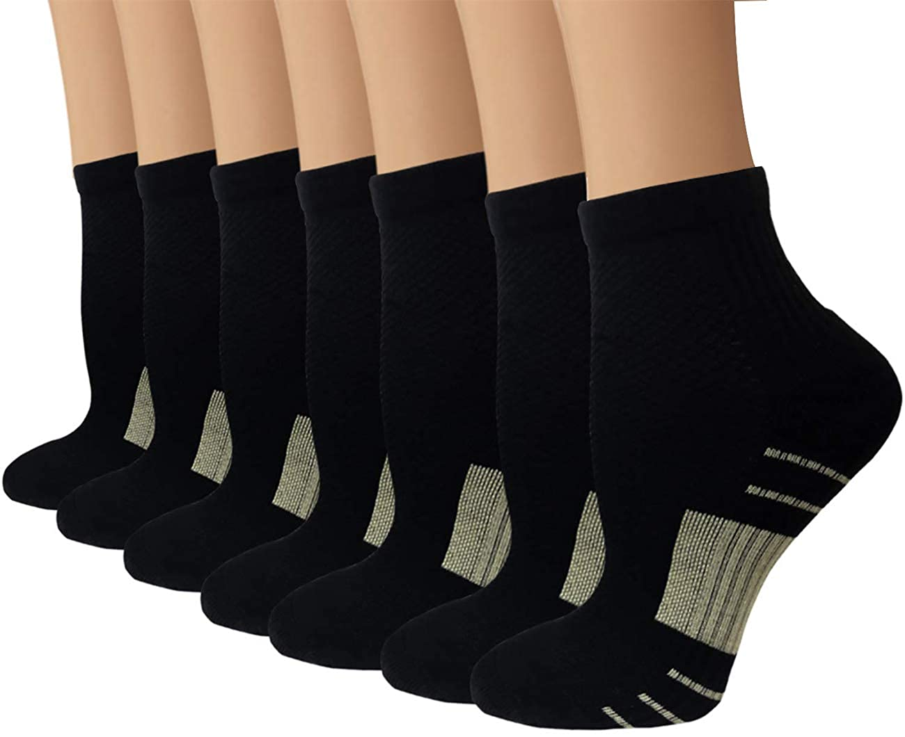 高価値 男性 Black/女性用ニーハイGraduated/ Compression Socks (7パック) (7パック) – 15 – 20 mm Hg – 通気性 – 防止疲労/腫れ B07Q5RRRSW A1 Black 7 Pairs Small/ Medium Small/ Medium|A1 Black 7 Pairs, 守山区:1918a0a0 --- ballyshannonshow.com