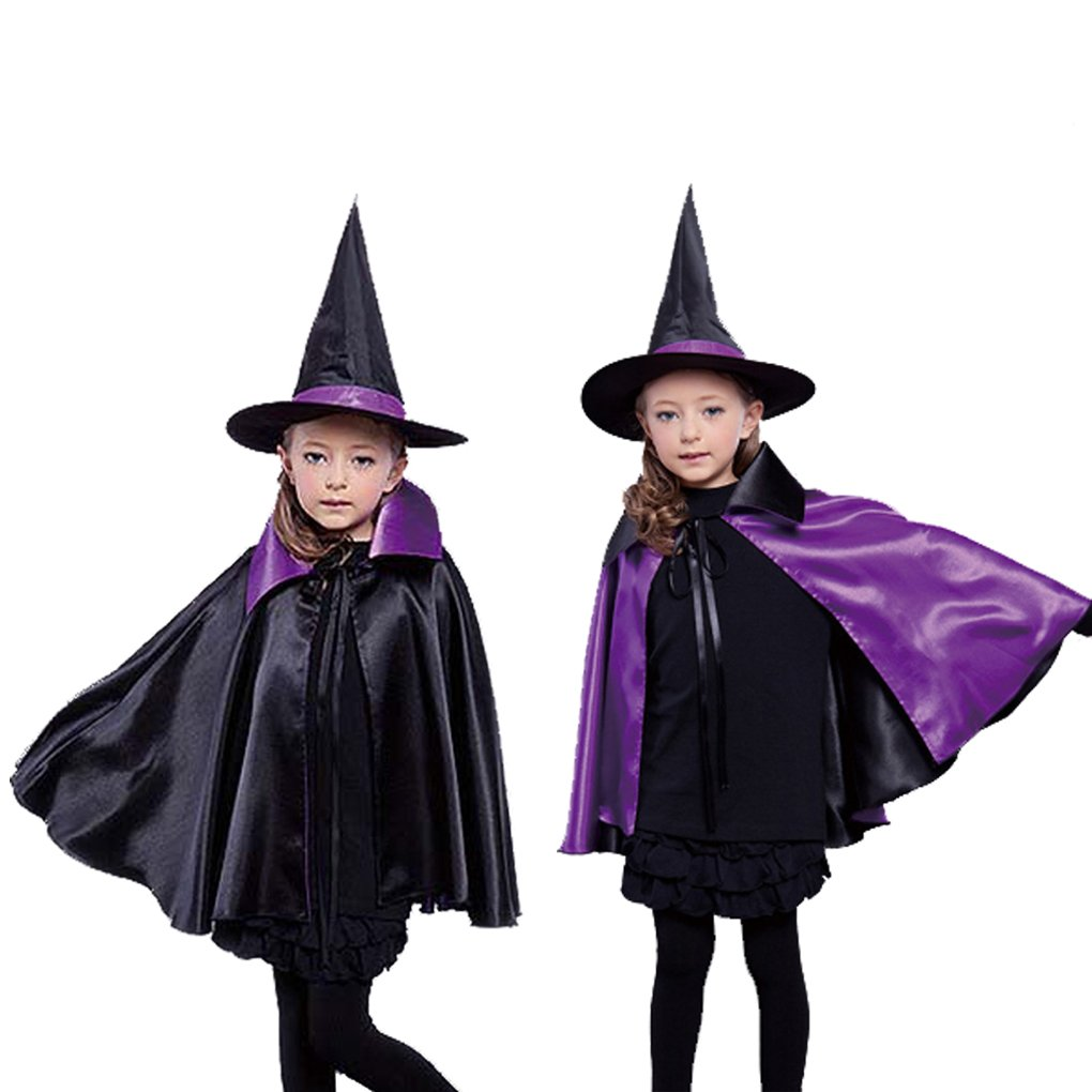 Witches Hats /& Capes Witches Ladies Deluxe Halloween Fancy Dress