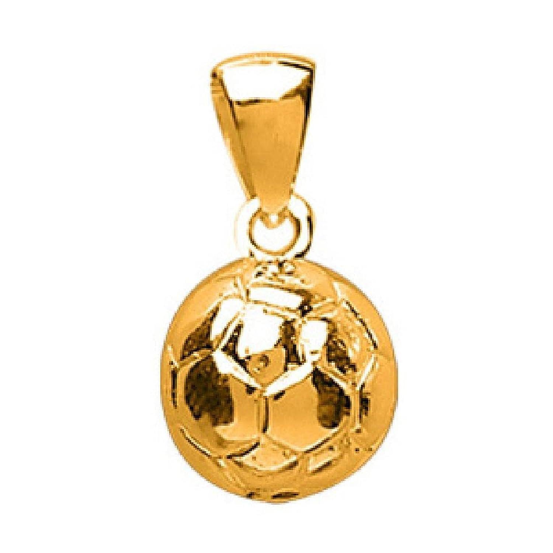 So Chic Joyas - Colgante Hombre Chapado Oro 750 - Balón grande de Football Soccer