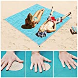 BASEIN Sand Scape Beach Mat Large Size Outdoor Picnic Camping Blanket - Blue