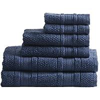 6-Piece Remy Cotton Super Soft Quick Dry Solid Bath Towel Set (various colors)