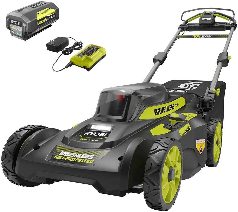 best walk behind lawn mowers RYOBI 20 in. Brushless Cordless Walk Behind Lawn Mower