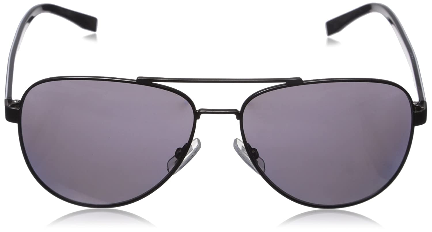 eb085e5b5 Accessories BOSS by Hugo Boss Mens B0761s Polarized Aviator Sunglasses  Matte Black/Smoke Polarized 60 mm ...