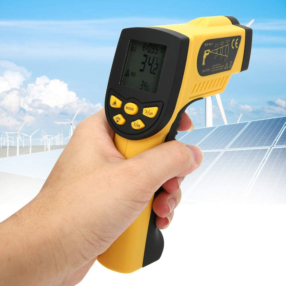 -58〜2372℉ HP-1300 Infrared Thermometer,Handheld Non-Contact Digital Infrared IR Thermometer Temperature Tester 50〜1300℃