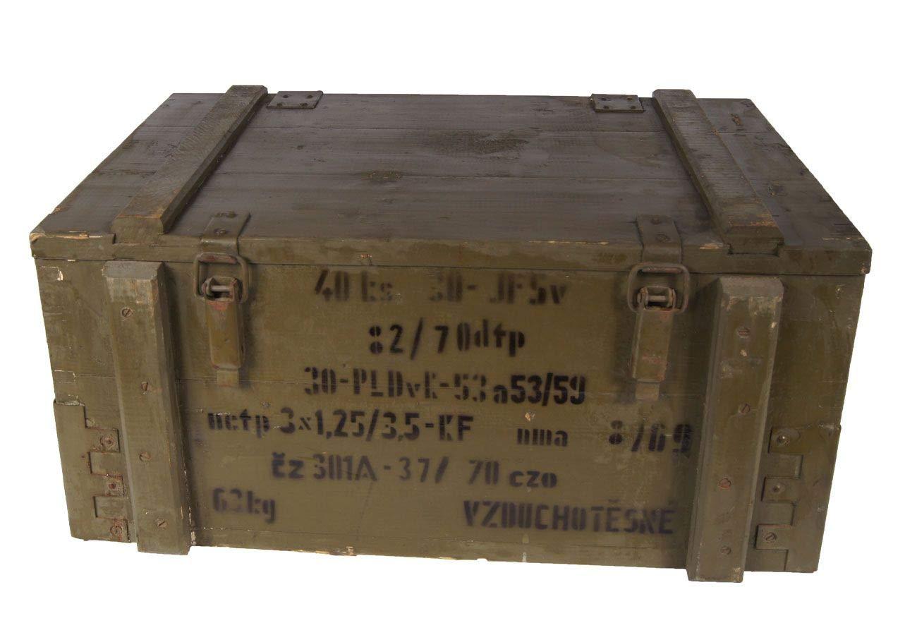 Nato Transportkiste Holzkiste Oliv gebraucht 62 x 42 x 28 Lagerkiste Truhe Armeekiste Unbekannt