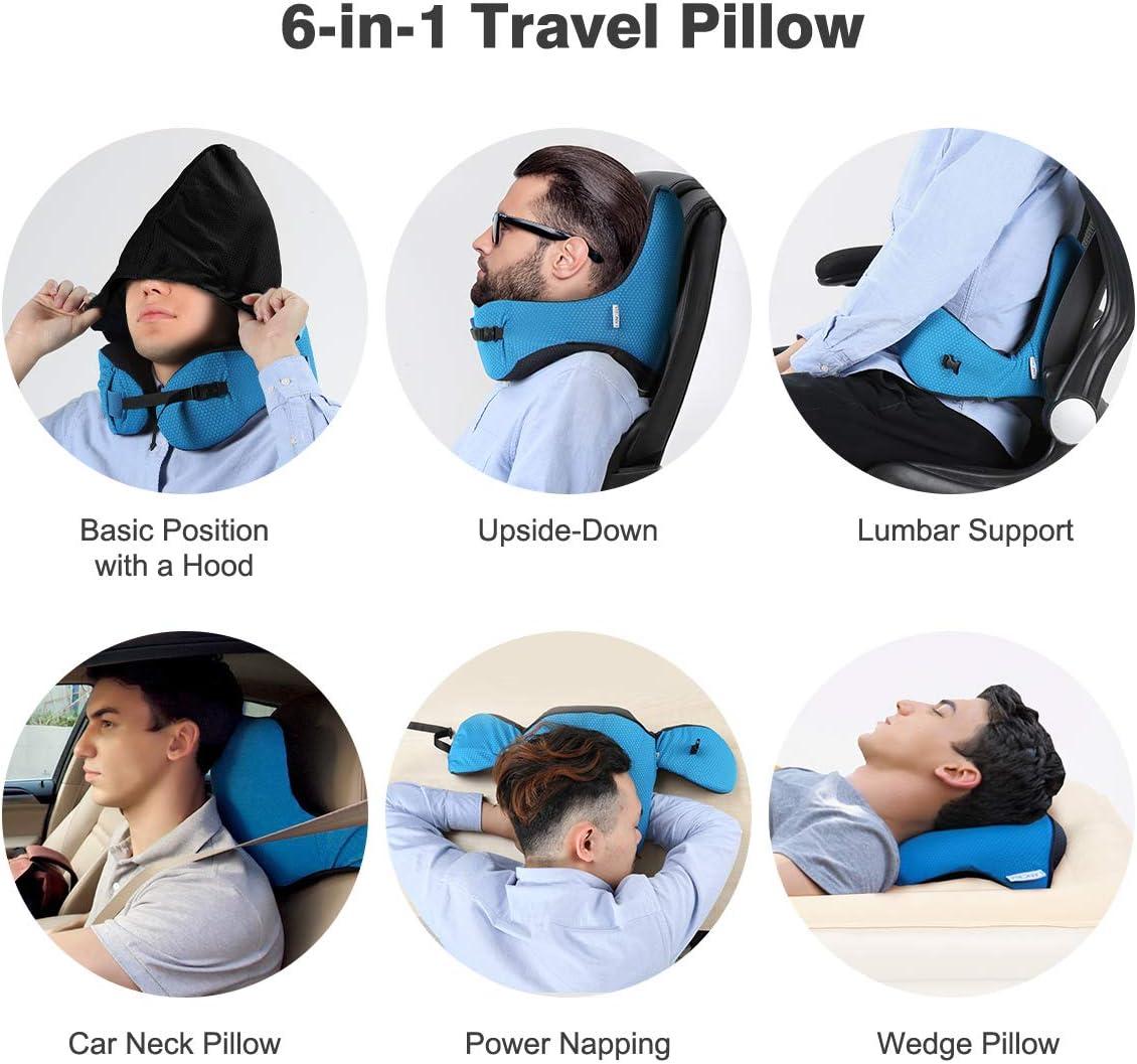 LANGRIA Travel Pillow 6 in 1 Long Haul