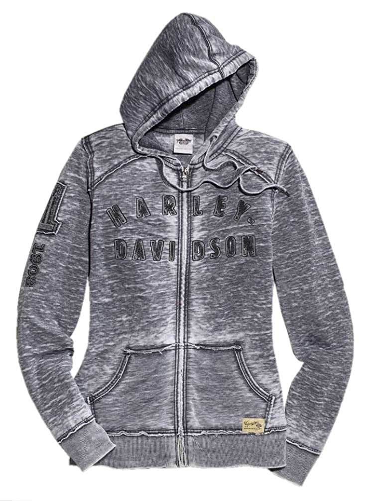 01924572a Cotton Blend Made of 60% cotton and 40% polyester with allover burnout  wash. Drawstring hood and zipper front. Rib-knit cuffs and waist