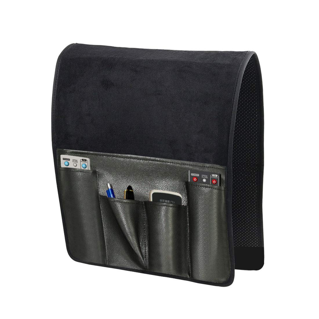Enerhu Sofa Armrest Organizer Couch Chair Caddy Organiser for TV Remote Phone Holder Storage Bag Coffee