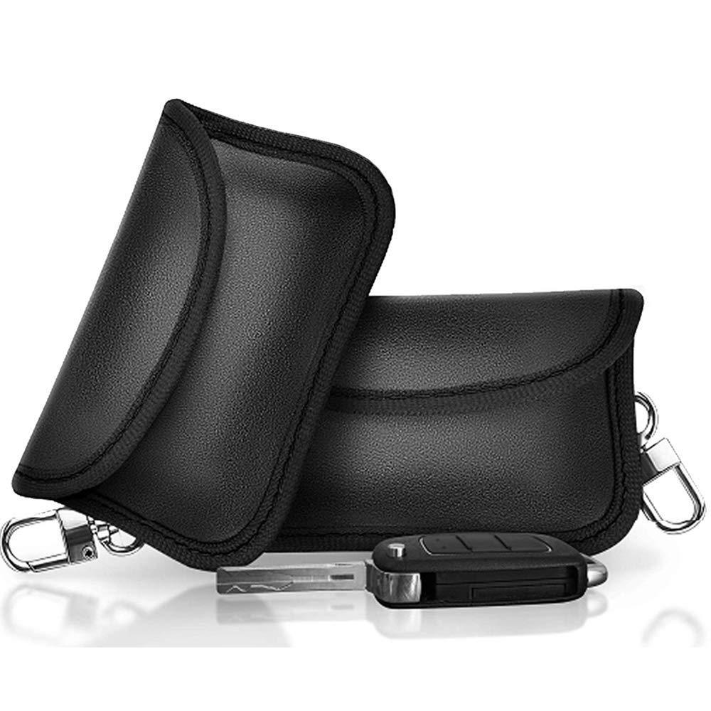 YGL Mini Bolso Faraday para Llaves de Coche Llave del Coche de Bloqueo de Se/ñal Caso Bolso Bloqueador de Se/ñal para Llaves de Auto 2 Piezas
