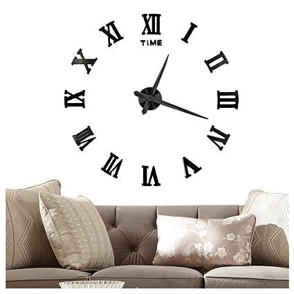 Amazoncom Vangold Large 3d Diy Wall Clock 2 Year Warranty Roman