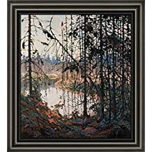 Art Tom Thomson Group of Seven Canvas Framed Free Shpping Made in Canada