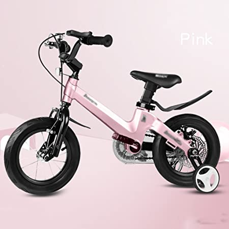 Bicicletas Bicicleta 2-10 años de Edad Marco de aleación de magnesio bebé Bicicleta niño niña Carro de 12 Pulgadas, 14 Pulgadas, Bicicleta de 16 Pulgadas (Color: Rosa, Tamaño: 16 Pulgadas): Amazon.es: Hogar