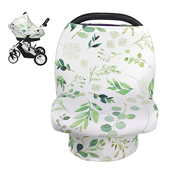 Stroller and Carseat Covers for Boys or Girls- Best Stretchy Scarf and Shawl- Multi Use Breastfeeding Cover- Bohemian Feather Floral /& Arrow Shopping Cart Nursing Cover Car Seat Canopy High Chair
