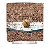 Pixels Shower Curtain (74'' x 71'') ''The Ball Of Field Of Dreams''