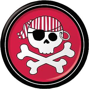 3 paquetes de papel platos de postre, pirata Parrty Boy