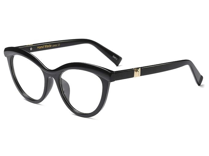 4b04d37b3e Allt Vintage Cat Eye Optical Eyewear Half Tinted Frame Mod Eyeglasses with  Clear Lenses for Women