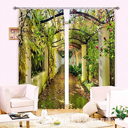 Qcl3d Vorhänge Vorhang Vorhang Vorhang Gardinen schwarzout Vorhänge_3D schwarzout Vorhänge Blaumen Korridor HD Digitaldruck Vorhänge Wohnzimmer Schlafzimmer Büro, Breite 2,64x hoch 1,6 B07LF7BZPP Vorhnge bb6175