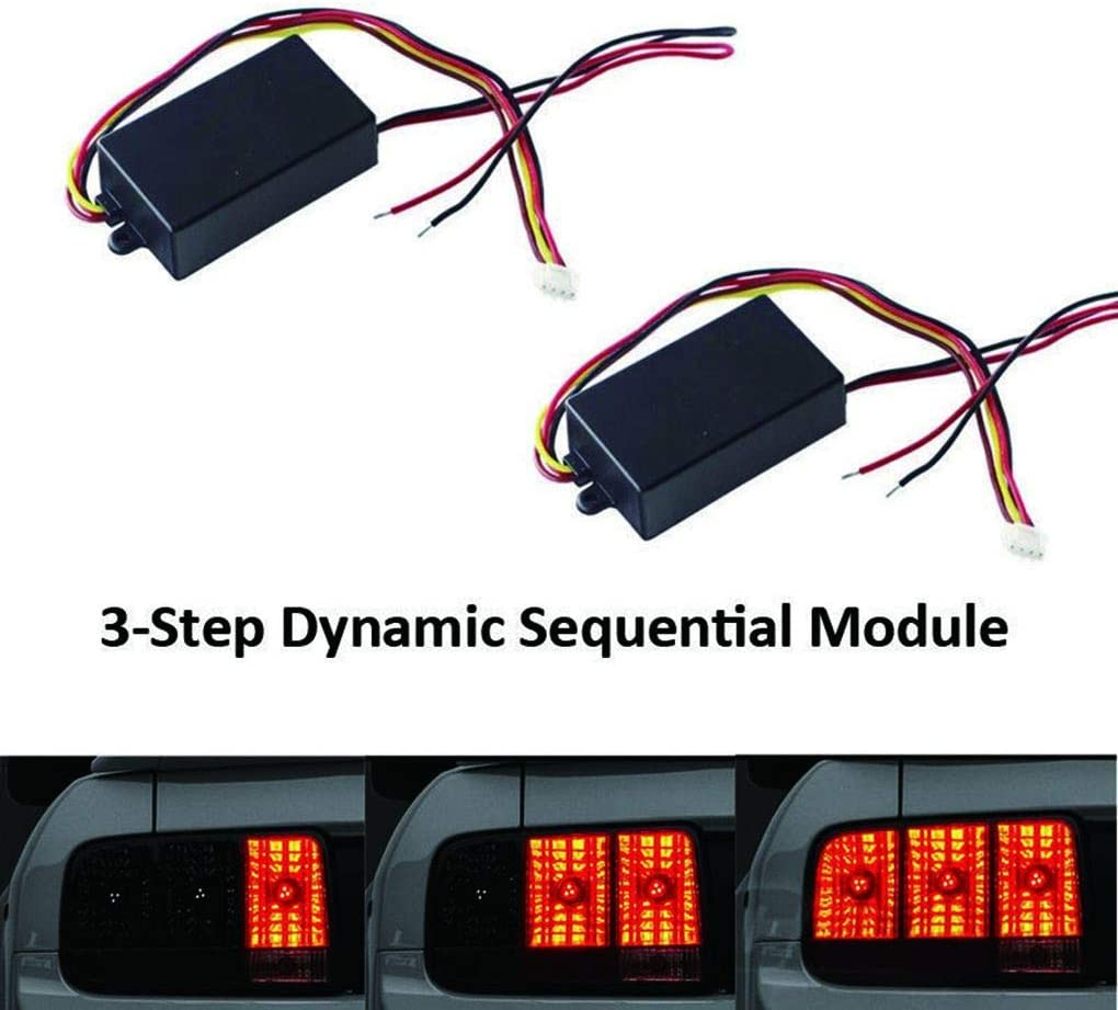 Fengyuanhong 1Pair Automotive Turn Light Module Sequential Flow Semi Dynamic Chase Flash Tail Lamp Boxes
