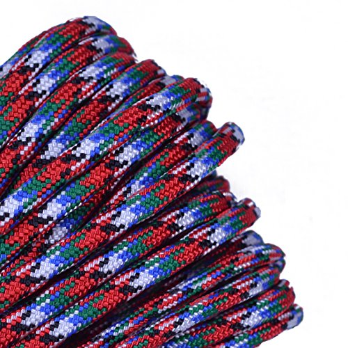 Bored Paracord - 1', 10', 25', 50', 100' Hanks & 250', 1000' Spools of Parachute 550 Cord Type III 7 Strand Paracord Well Over 300 Colors - Afghanistan Veteran 2-10 Feet