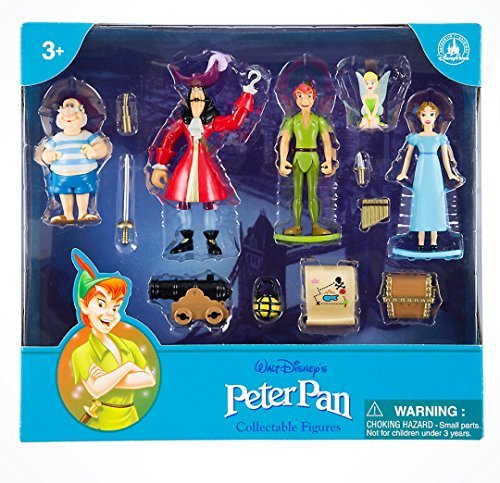 Chest Figurine Set (Disney Parks Exclusive Peter Pan Tinkerbell 13 Pc. Figurine Playset Cake Topper Set)