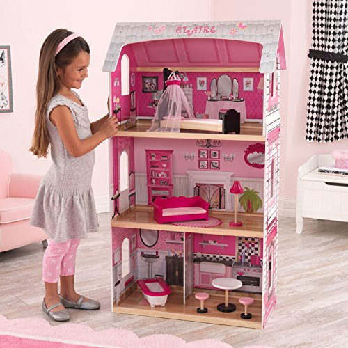 Kidkraft Rocking Bed (3-Story Bonita Rosa Dollhouse with 6 Accessories)