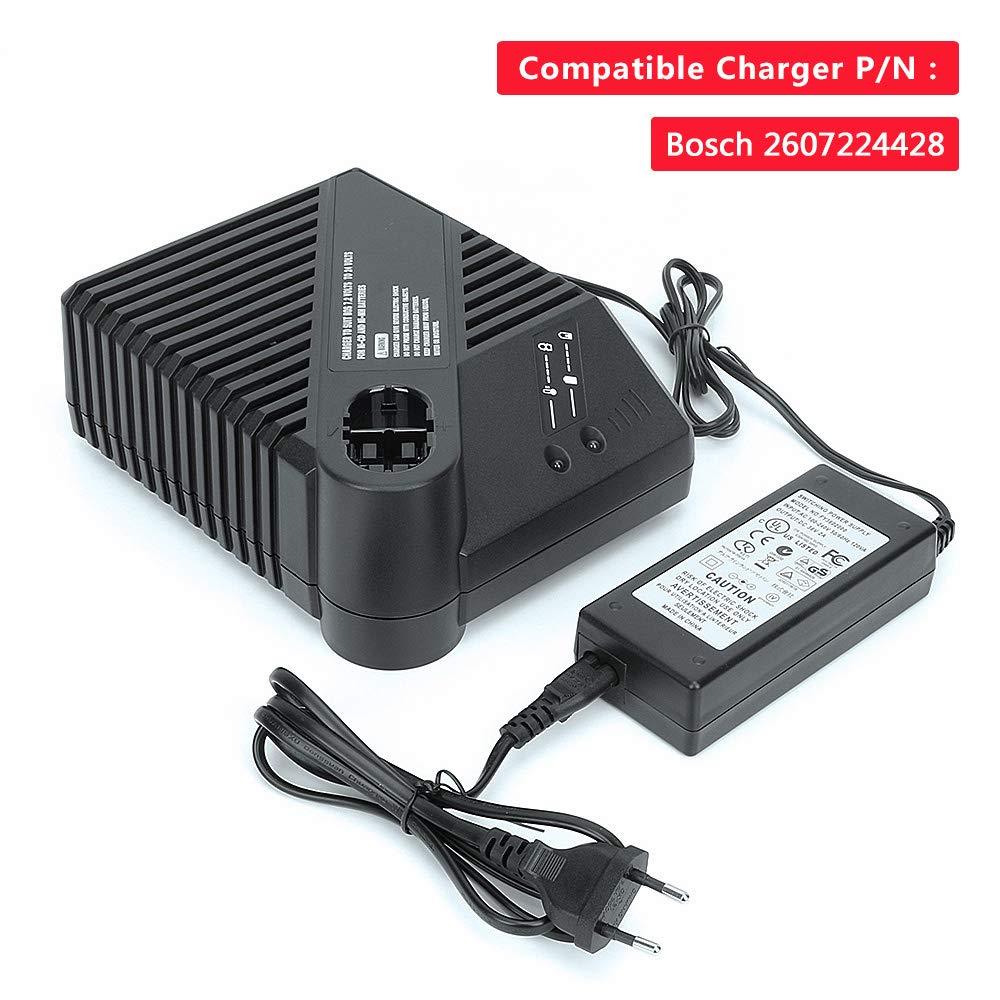 Cargador de repuesto para bater/ías Bosch 7.2V-24V Ni-CD Ni-MH Cargador recargable para BAT043 BAT045 BAT038 BAT040 BAT048 BAT100 BAT119 BAT025 BAT001 BAT011 BAT019 2607335035 2607335037 260722424428