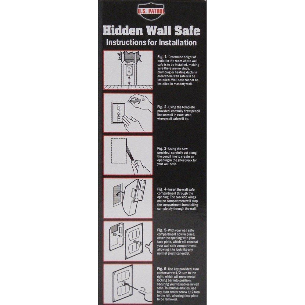 US Patrol Hidden Wall Safe Secret Stash Electrical Plug Amazoncom