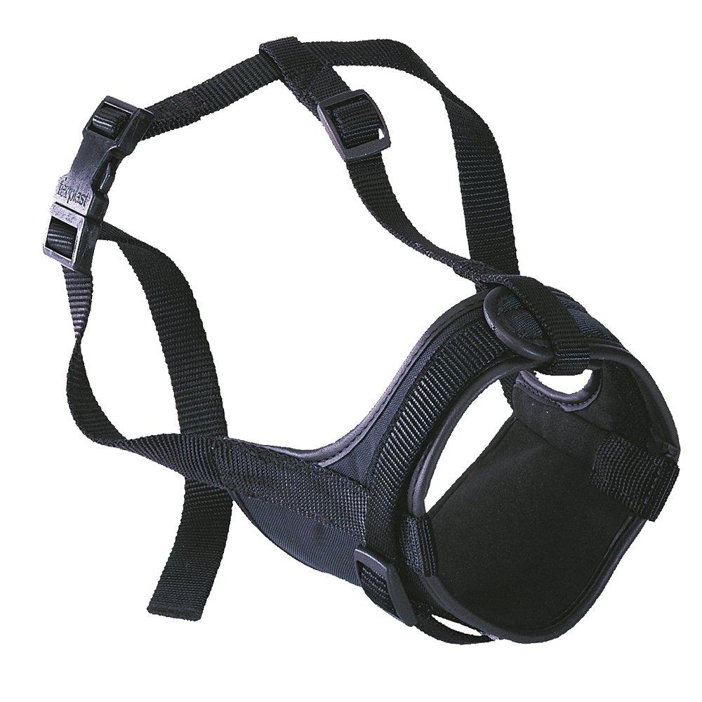 Ferplast 75585917 Muselière rembourrée Safe boxer Noir Longueur museau 10 cm, circonférence museau 20-30 cm, circonférence cou 50-80 cm