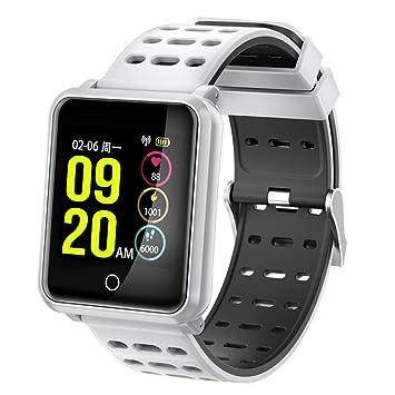 C-Xka Reloj inteligente, pantalla anti-acuarela IP68 pulsera inteligente Rastreador de ejercicios Presión arterial ritmo cardíaco movimiento de monitoreo en ...