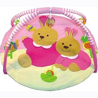 Babymix tappeto neonato palestrina con arco giochi orsetto rosa