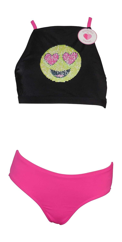 Justice Swim Flip Sequin Bikini Emoji