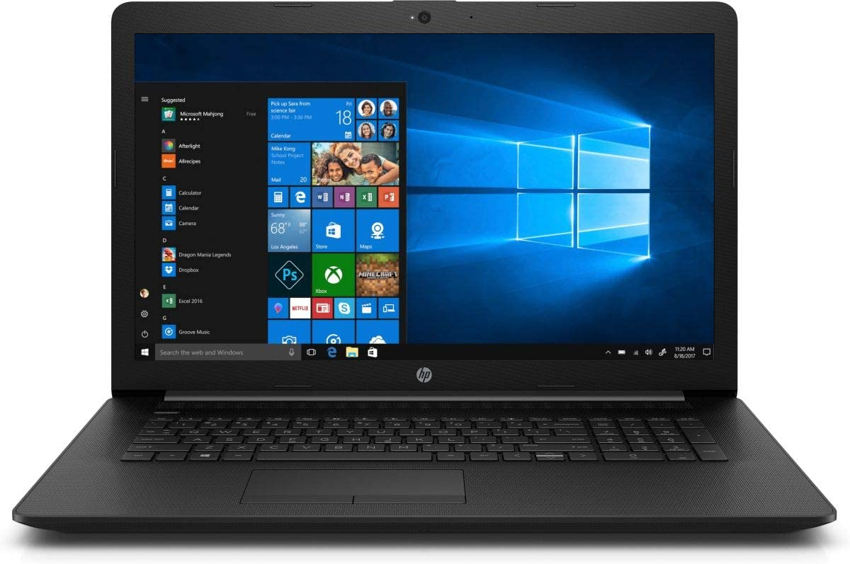 "2020 HP Laptop, 17.3"" HD+ Screen, 10th Gen Intel Core i5-1035G1 Quad-Core Processor up to 3.60GHz, 8GB DDR4 RAM, 256GB PCIe NVMe M.2 SSD, DVD-RW, HDMI, Wireless-AC, Bluetooth, Windows 10 Home, Black"