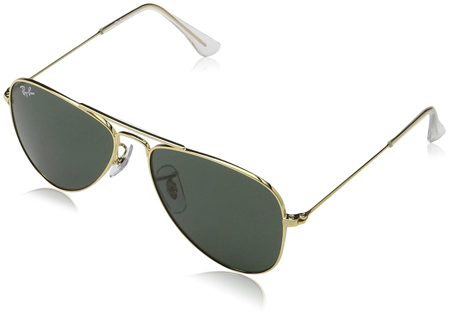 Ray-Ban Ray Ban Jr. Boys Ray-ban Kids Aviator Junior, Gold Frame Green Lens, 50 mm 223/71