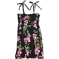 RJC Girl's Scenic Bamboo Hawaiian Smocked Rayon Dress